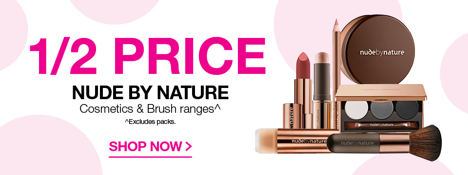 1/2 Price NUDE BY NATURE Cosmetic and brush ranges