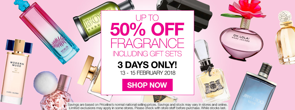 Save Up to 50% Off Fragrance, 3 Days Only!