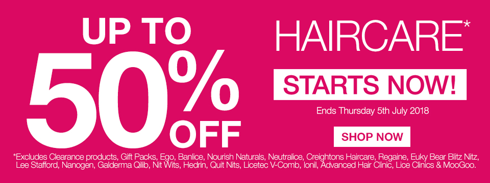 UP TO 50% OFF HAIRCARE 3 DAYS ONLY!