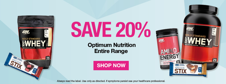 Save 20% on Optimum Nutrition